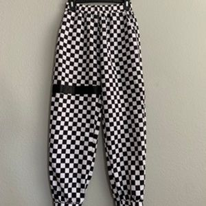 Checkered streetstyle rave trendy joggers